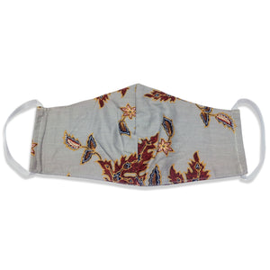 Bali Collection Batik Face Covering - Light Gray