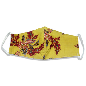 Bali Collection Batik Face Covering - Yellow Mustard