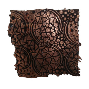 Lombok Collection Rectangle Batik Face Covering - Stone