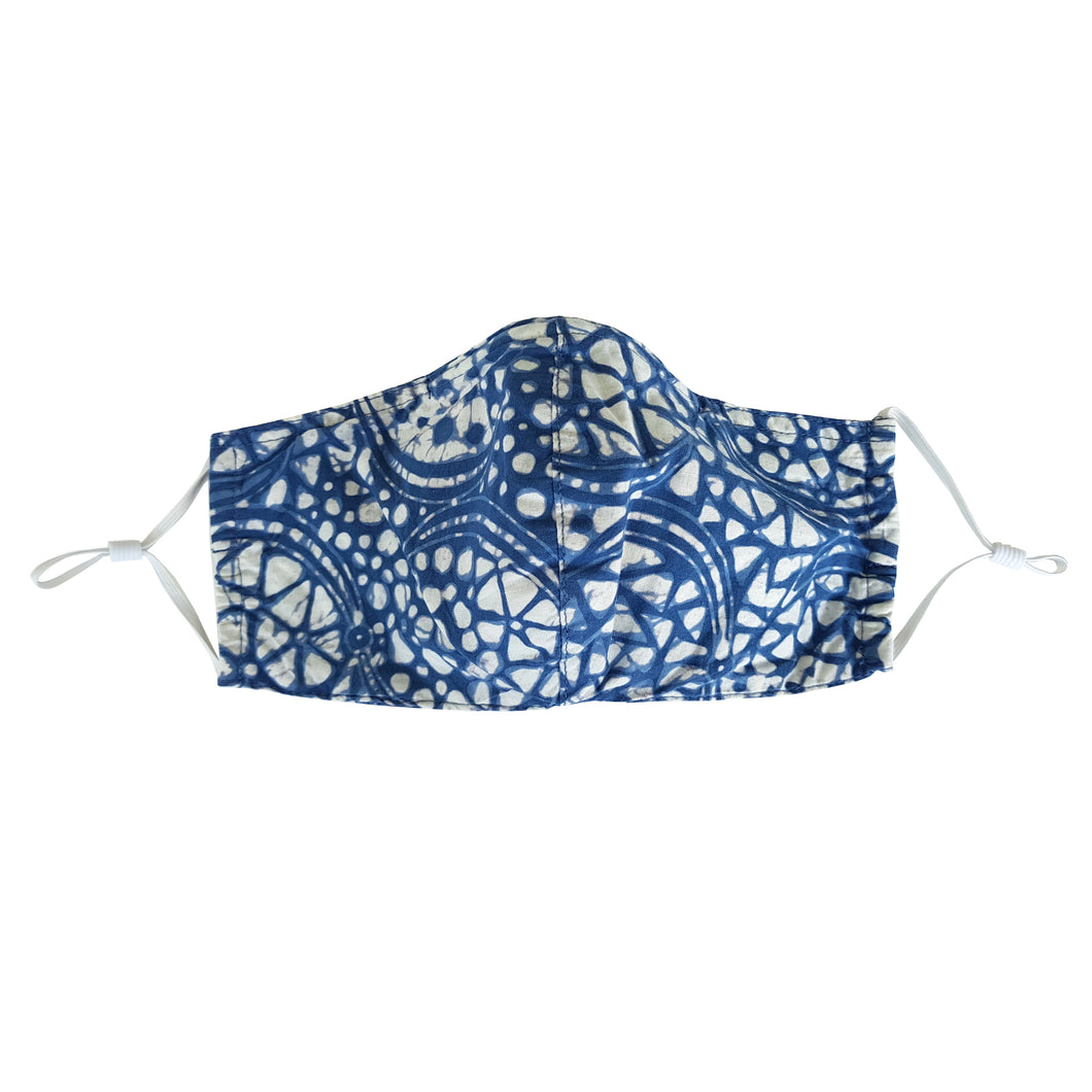 Batik Face Mask with Insert Pocket - Black