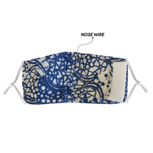 Batik Face Mask with Insert Pocket - Green