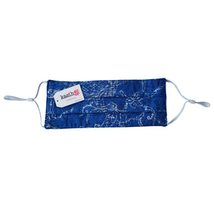 Batik Face Mask with Pocket for Filter - Blue and Cream