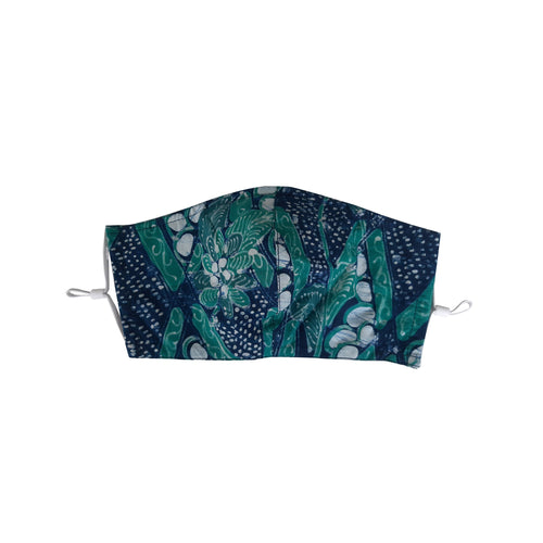 Gili Collection Batik Face Covering - Scales - Hand Drawn Batik