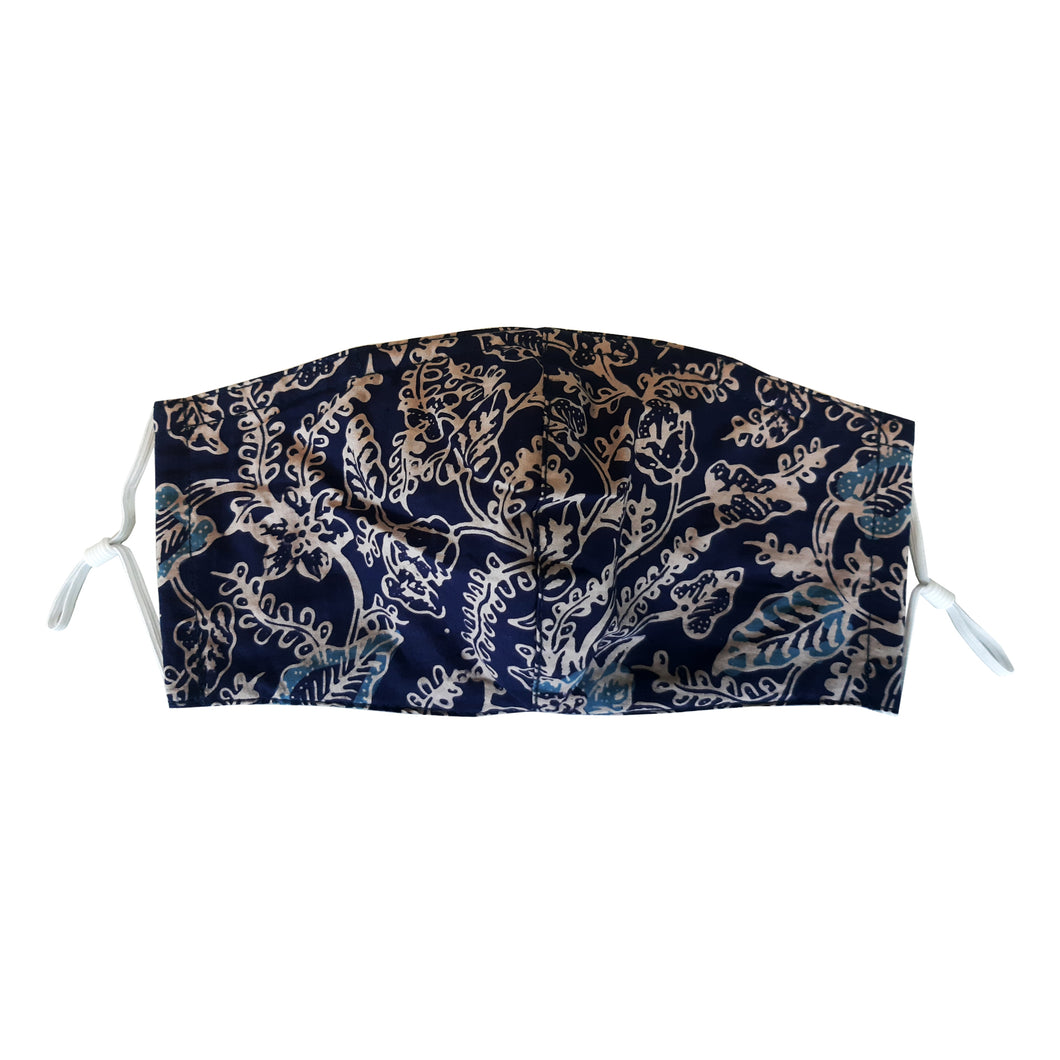 Lombok Collection Rectangle Batik Face Mask - Stone