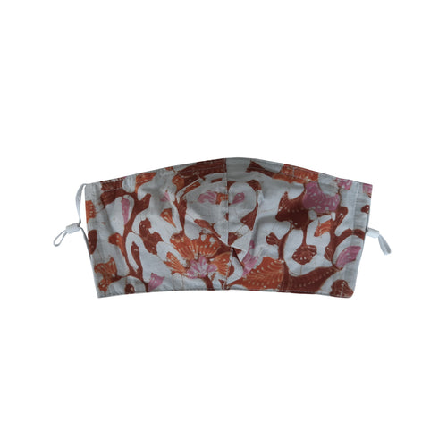 Gili Collection Batik Face Covering - Prosperity - Hand Drawn Batik