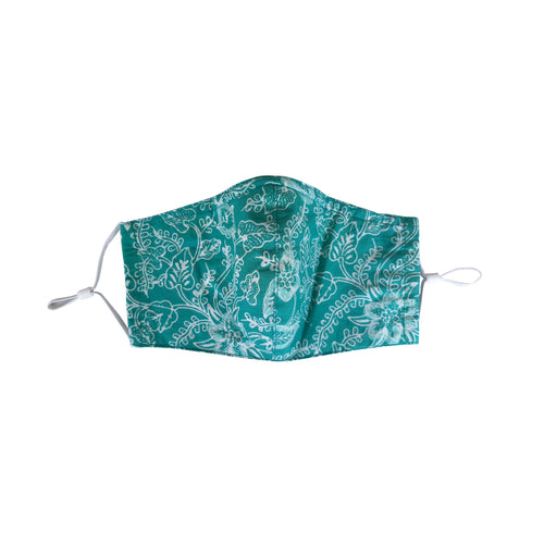 Gili Collection Batik Face Covering - Foliage in Green