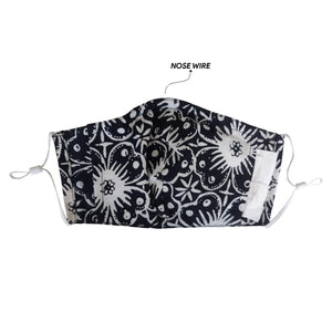 Gili Collection Batik Face Covering - Hibiscus