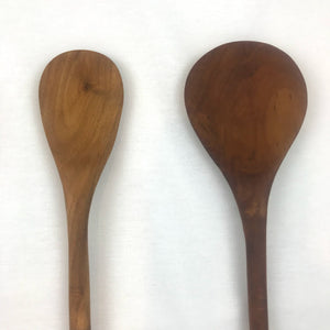 Set of 4 Cooking Kitchen Utensils Teak Wood 14inches ( Three spoons and one spatula)