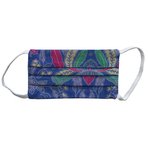 Kids Rectangle Batik Face Covering - Light Blue