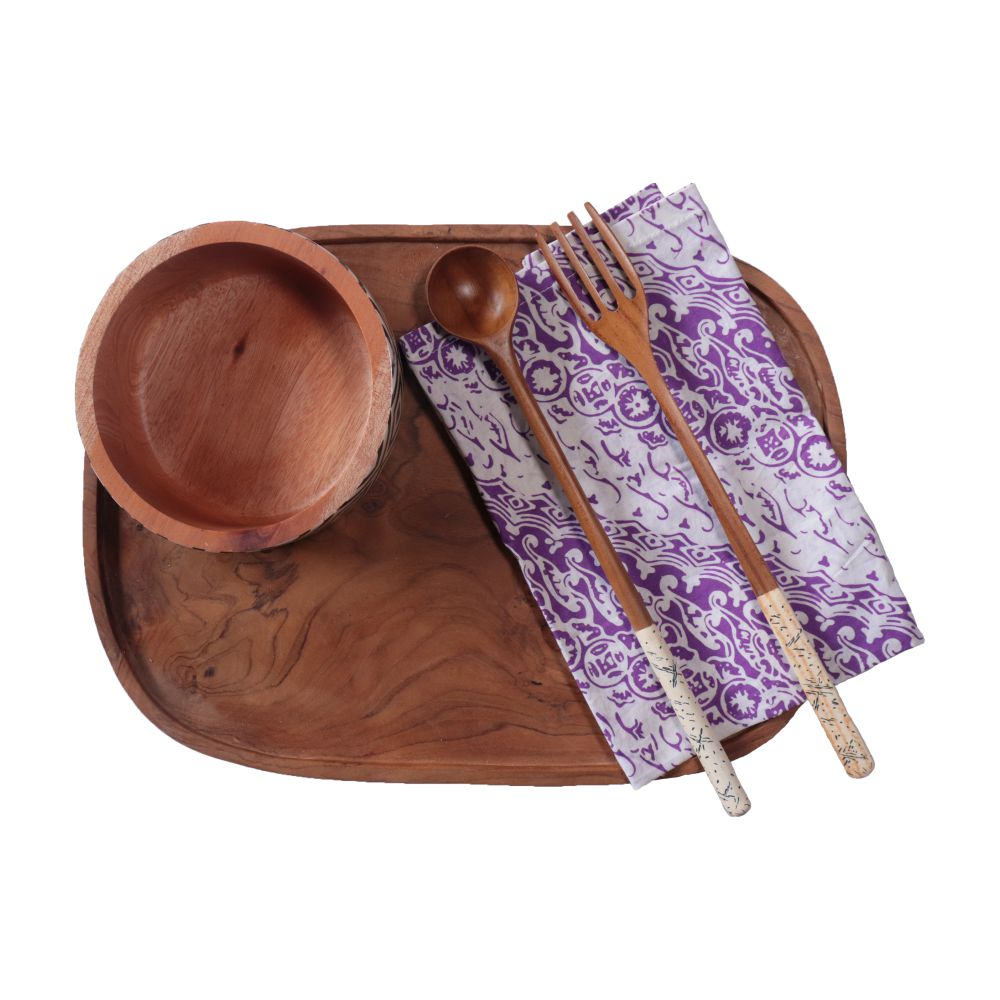 Batik Cloth Napkin Set of Four - Blade