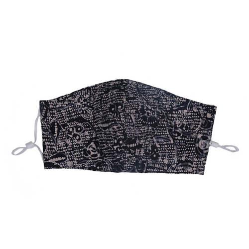 Gili Collection Batik Face Covering - Twirl - Hand Drawn Batik