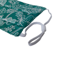 Load image into Gallery viewer, Lombok Collection Rectangle Batik Face Covering - Foliage in Green