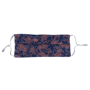 Lombok Collection Rectangle Batik Face Covering - Mangosteen