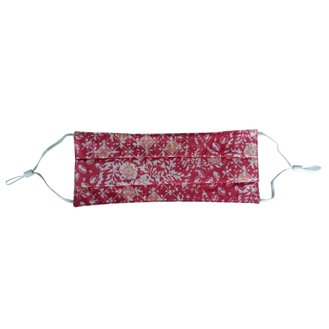 Lombok Collection Rectangle Batik Face Covering - Wildflower