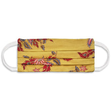 Load image into Gallery viewer, Rectangle Batik Face Mask with Insert Pocket - Yellow Mustard
