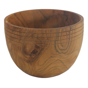 Teak wood salad bowl handmade in Indonesia 8inches W x 7.1inches H