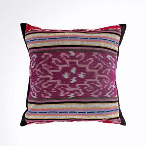 Ikat Pillow Cover, Pink and Purple. Cover Only with No Insert. 16x16 inches
