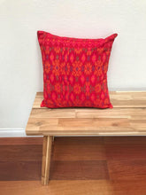 Load image into Gallery viewer, Batik Pillow Cover, Red. Cover Only with No Insert. 20inches x 20inches