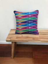 Load image into Gallery viewer, Ikat Pillow Cover, Pink Blue Yellow Colorful. Cover Only with No Insert. 16inches x 16inches