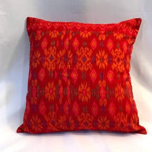 Load image into Gallery viewer, Batik Pillow Cover, Red. Cover Only with No Insert. 16inches x 16inches