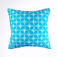 Load image into Gallery viewer, Batik Pillow Cover, Greenish Blue. Cover Only with No Insert. 16inches x 16inches