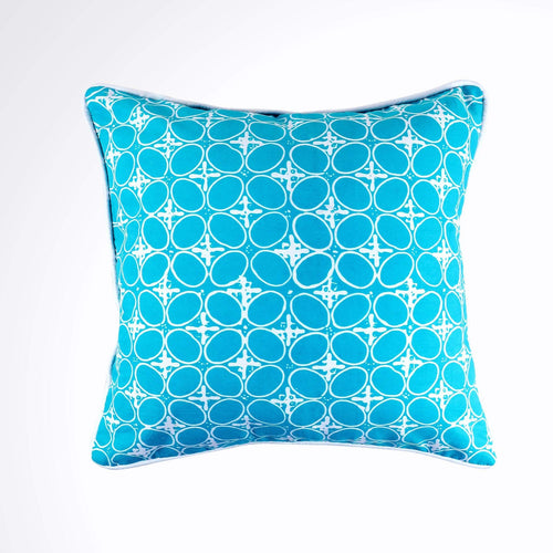 Batik Pillow Cover, Greenish Blue. Cover Only with No Insert. 20