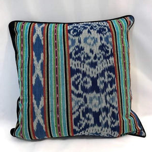 "Ikat Pillow Cover, Blue Indigo. Cover Only with No Insert. 20"" x 20"""
