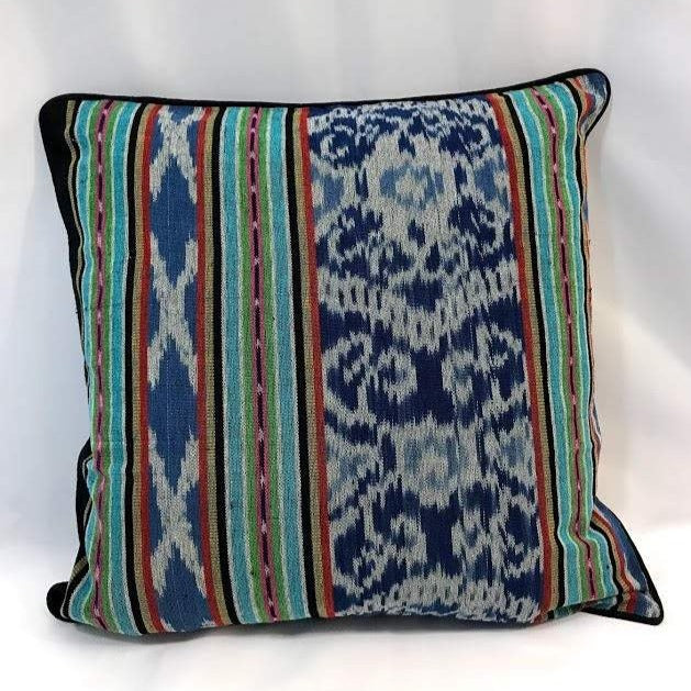 Ikat Pillow Cover, Blue Indigo. Cover Only with No Insert. 20