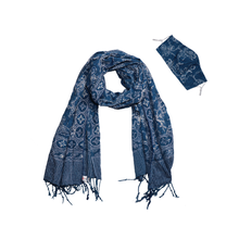 Load image into Gallery viewer, Batik Gili Face Covering & Scarf Set - Butterfly