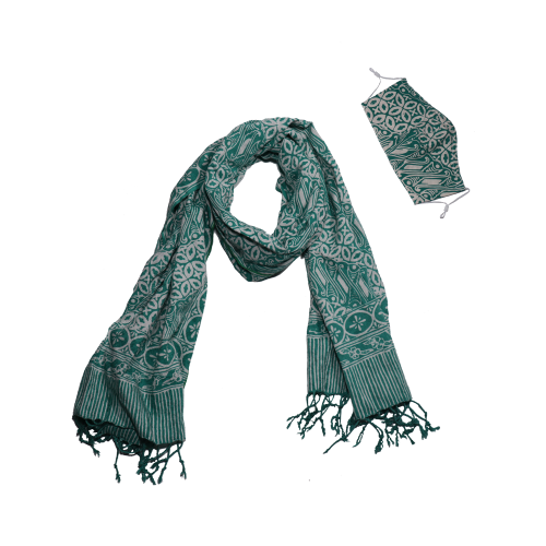 Batik Gili Face Covering & Scarf Set - Royalty