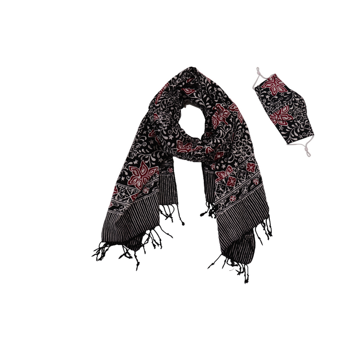 Batik Gili Face Covering & Scarf Set - Star