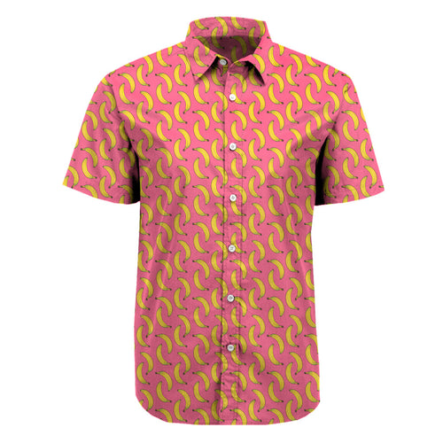 Bananas all over print button up - unisex