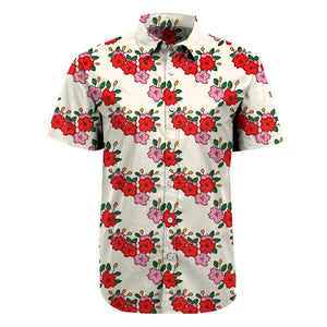 Hanafuda all over print button up - unisex