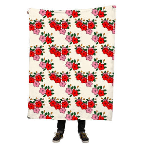 Hanafuda flower throw blanket