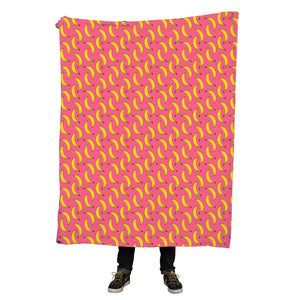 Bananas all over print throw blanket
