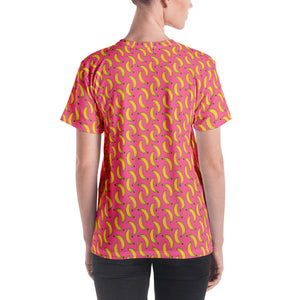 All over print shirt for women - Banana