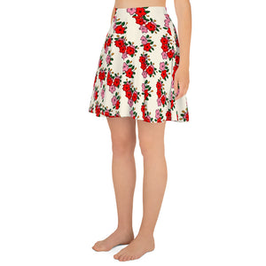 All over print skirt - Hanafuda