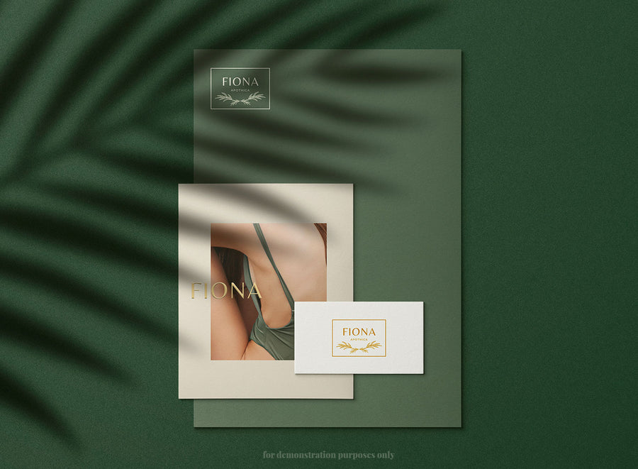 Elegant and Minimal customizable logo templates for home, beauty, healthy, fitness, and luxury subscription boxes. Editable in Canva.
