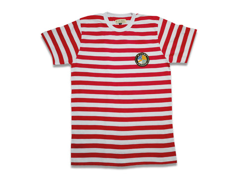 Striped T-shirt (Heart Breaker Red/White)