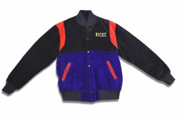 COLOR   BLOCKING VELOUR VARSITY