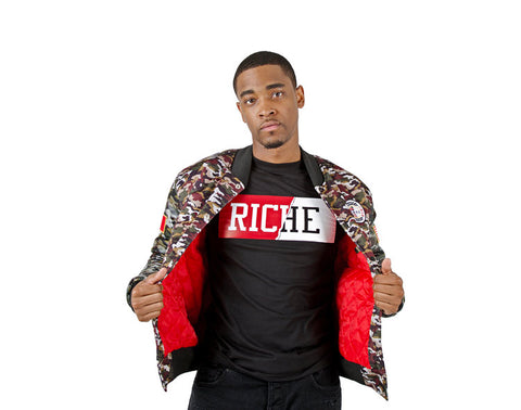 RICHE THREADS CAMO VARSITY