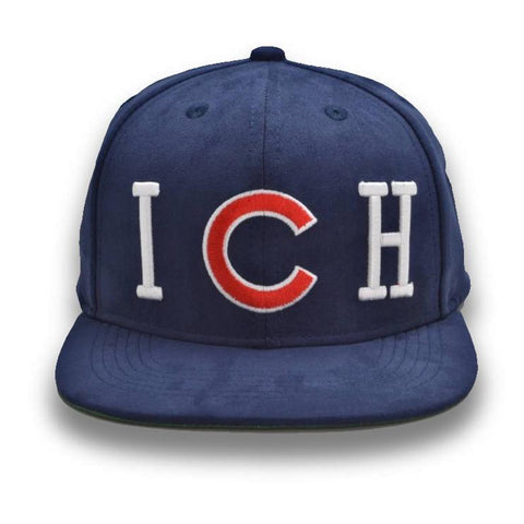 Bold Riche Threads Suede Snapback (Navy)