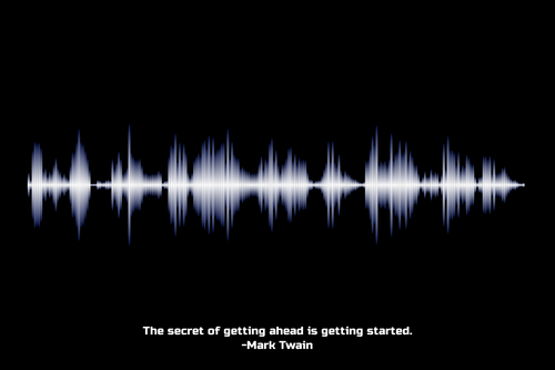 Mark Twain Quote Waveform Print