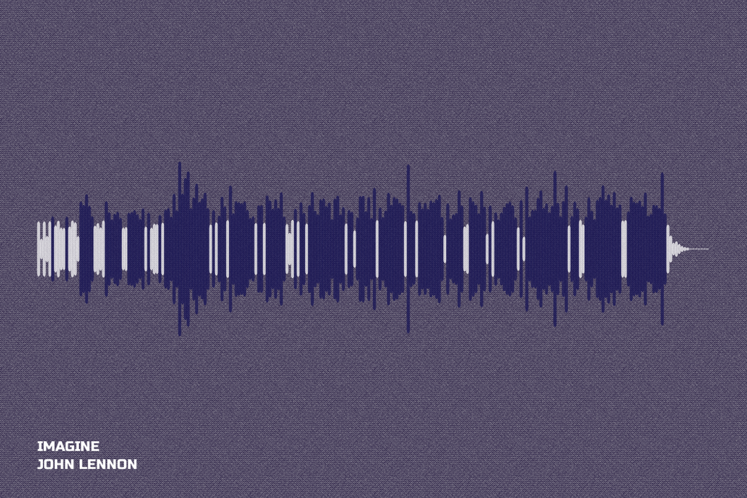 Imagine Waveform Print
