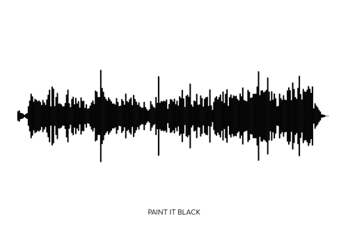 Paint It Black by The Rolling Stones Soundwave Poster