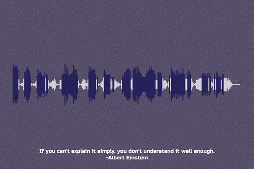 Albert Einstein Quote Waveform Print