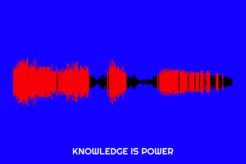 Knowledge Is Power Waveform Print