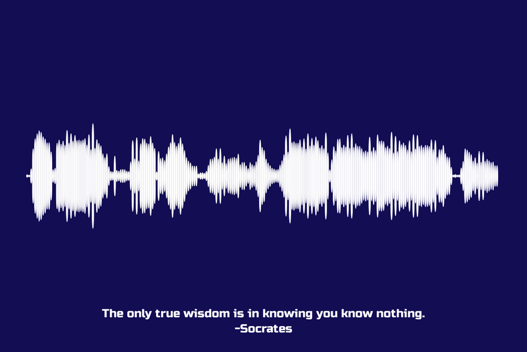 Socrates Quote Waveform Print