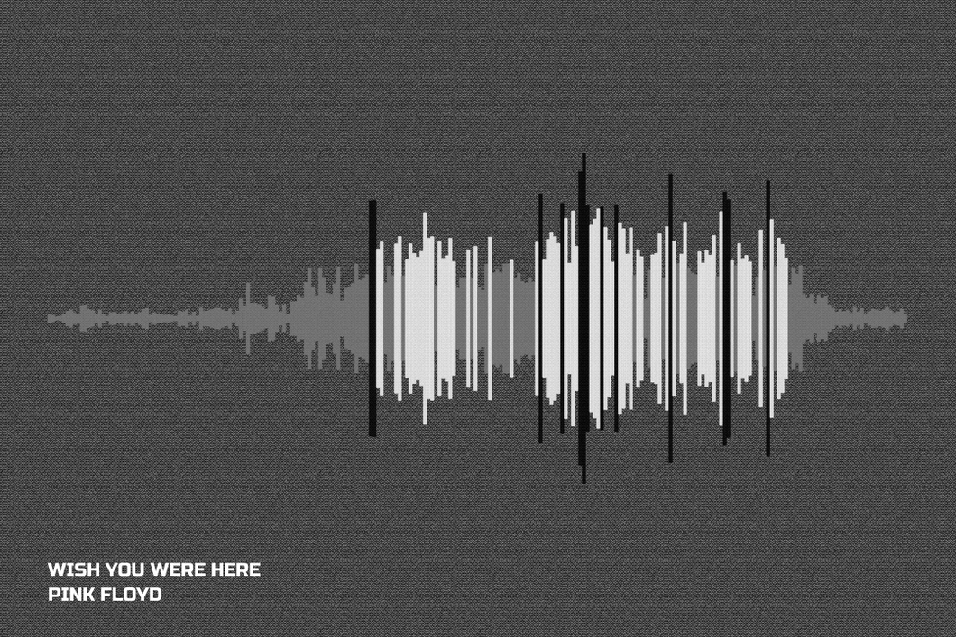 Wish You Were Here Waveform Print