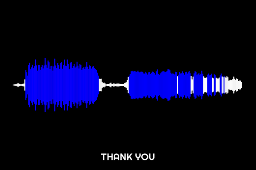 Thank You Waveform Print